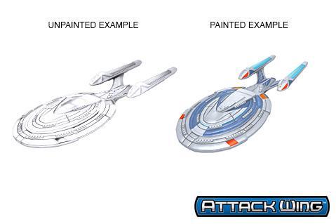 Star Trek Deep Cuts Unpainted Miniatures: Sovereign Class