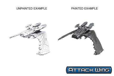 Star Trek Deep Cuts Unpainted Miniatures: Reman Warbird