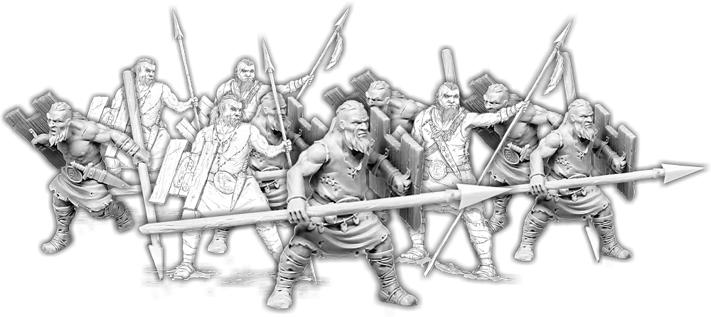 Darklands: Spears of Dun Durn, Gairlom Unit (10 warriors)