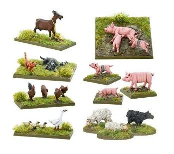 Pike & Shotte: (Scenery) Small Farm Animals