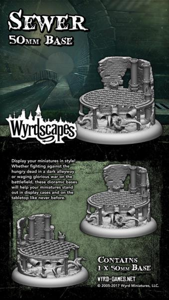 Wyrdscapes: Sewer 50MM Base