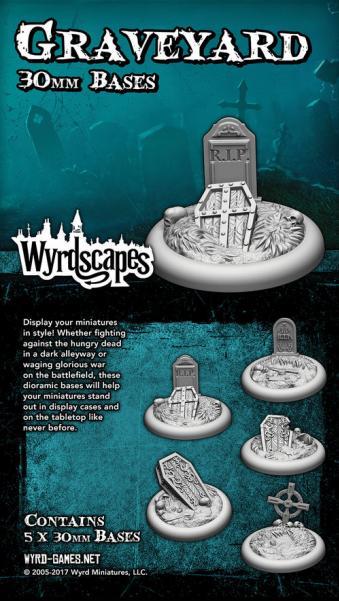 Wyrdscapes: Graveyard 30MM Base