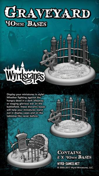 Wyrdscapes: Graveyard 40MM Base