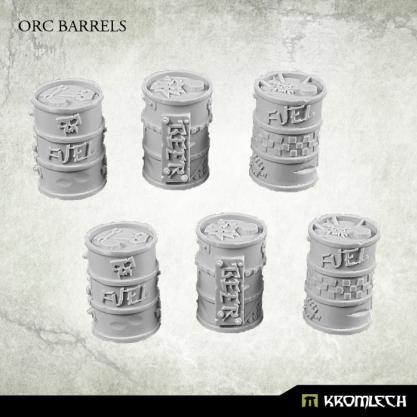 Kromlech Conversion Bitz:  Orc Barrels (6)