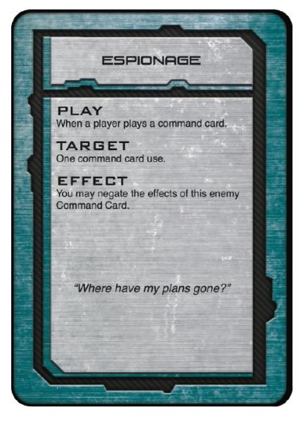 Dropfleet Commander: UCM Command Cards