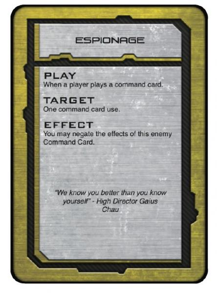Dropfleet Commander: PHR Command Cards
