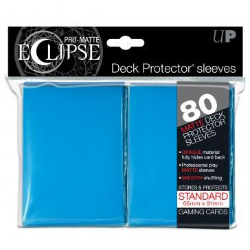 Sleeves: PRO-Matte Eclipse Standard Deck Protector Sleeves Light Blue (80ct)