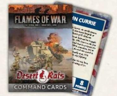 Flames Of War: Desert Rats Command Cards