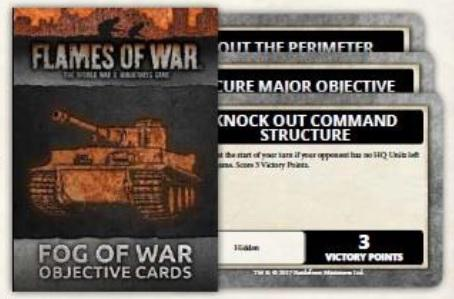 Flames Of War: Fog of War Objective Cards