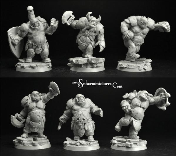 28mm Fantasy: Ogre Players Set (6)