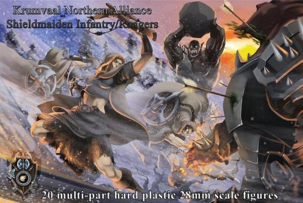 28mm Fantasy: Shieldmaiden Infantry/Rangers (hard-plastic)