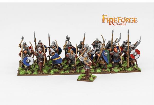 28mm Medieval: (Scandinavian) Infantry (25 infantry plastic figures)