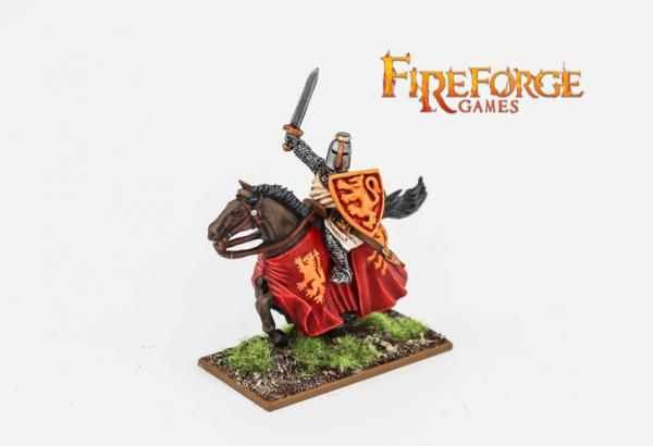 28mm Deus Vult: Leader on Barded Horse (Lion)