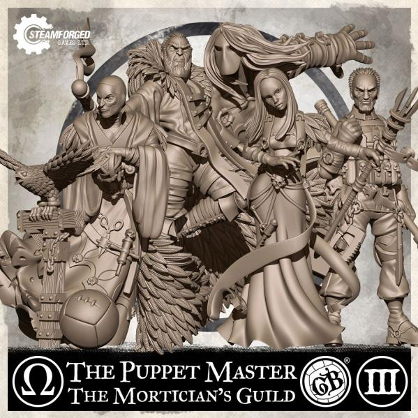GuildBall: (Mortician's Guild) The Puppet Master Set (Season 3)