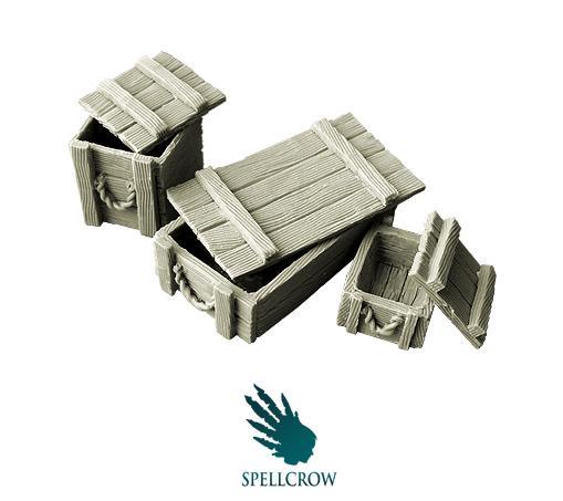 28mm Fantasy Terrain: Wooden Boxes