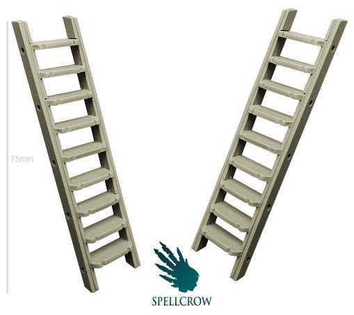 28mm Fantasy Terrain: Metal Ladders