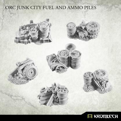 Kromlech Conversion Bitz: Orc Junk City Fuel and Ammo Piles (6)