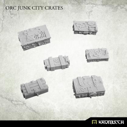 Kromlech Conversion Bitz: Orc Junk City Crates (6)