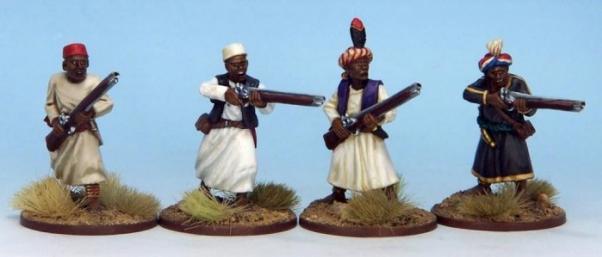 28mm Historical: (Colonial Africa) Ruga-Ruga Musketmen III (4)