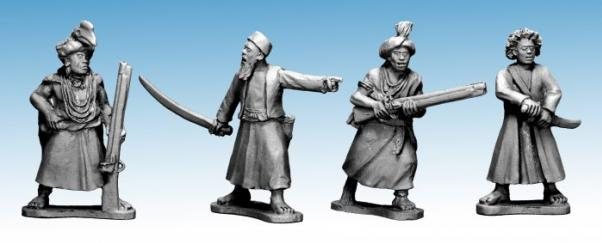 28mm Historical: (Colonial Africa) Ruga Ruga Characters (4)