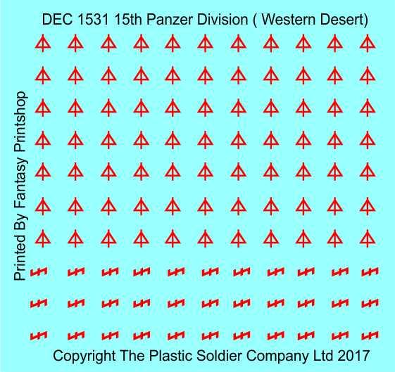 15mm Decal Sets: 15th Panzer Division Western Desert