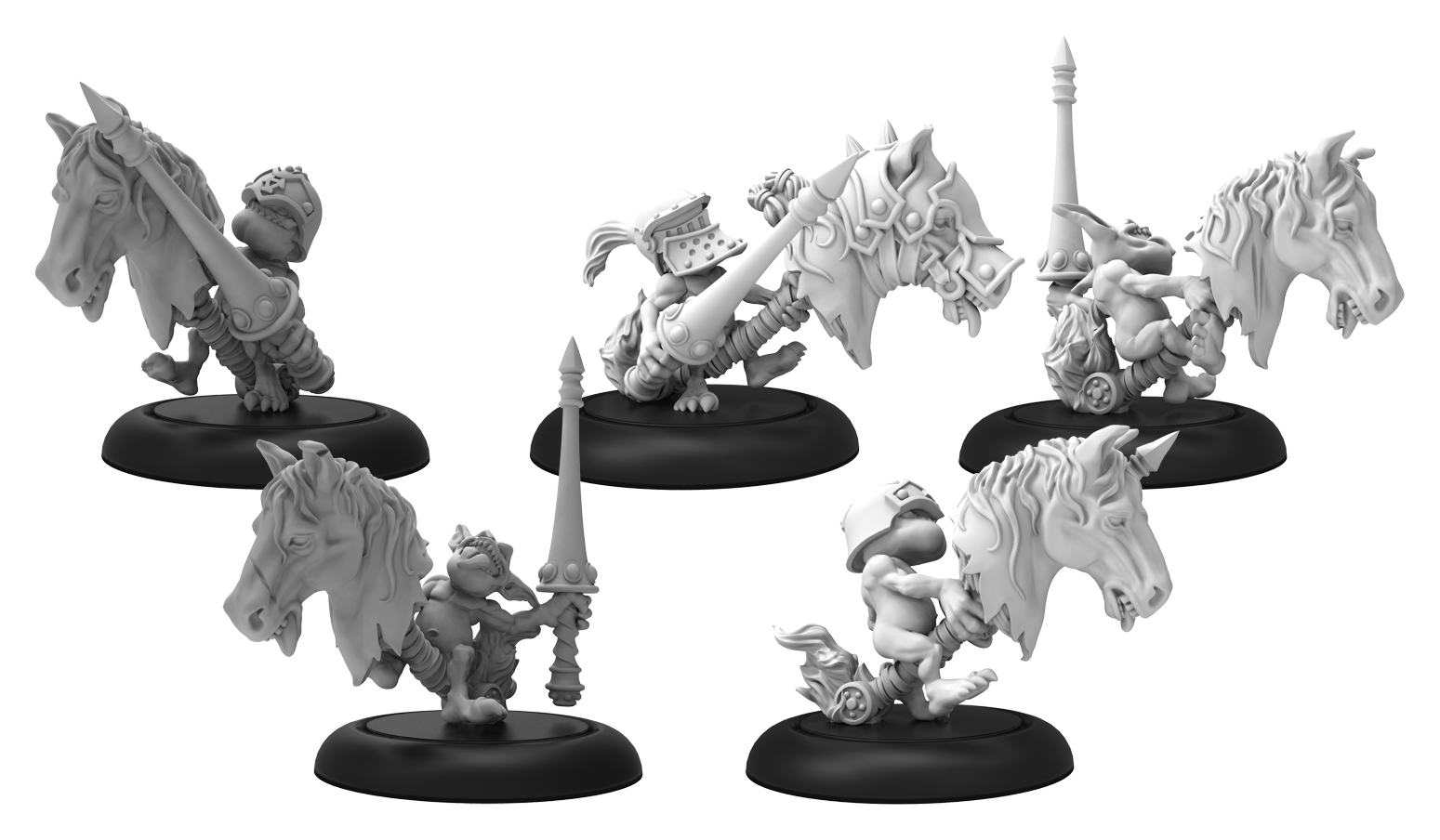Hordes: (Grymkin) Neigh Slayers - Gymkin Unit (metal)
