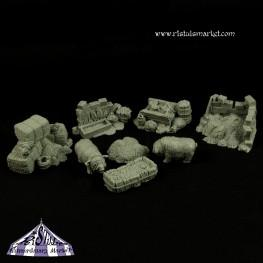 Extraordinary Basing Kits: Fantasy Pigs at Farm (8)