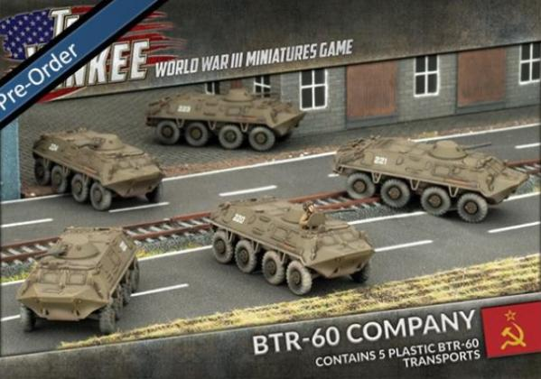 Flames Of War (Team Yankee): (Soviet) BTR-60 Transport Platoon (Plastic)
