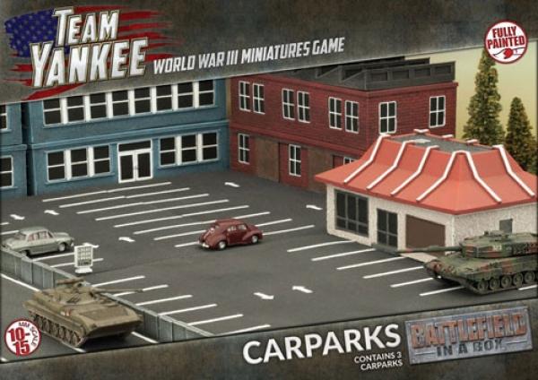 Flames of War: Car Parks (x3)