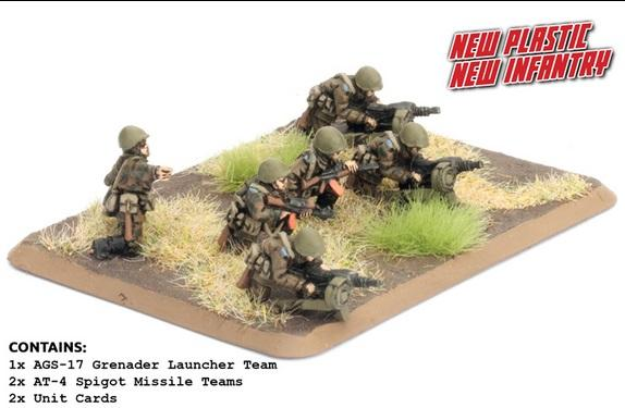 Flames Of War (Team Yankee): (Soviet) Soviet Heavy Weapons Platoon (2x AGS-17, 2x AT-4)
