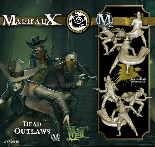 Malifaux: (The Outcasts) Dead Outlaws (3 Pack)
