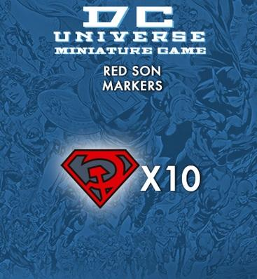 Knight Models DC Universe: (Accessories) RED SON MARKERS