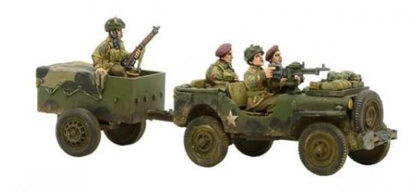 Bolt Action, 2nd Edition: (British) British Airborne Jeep & Trailer