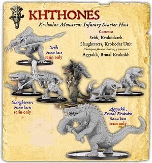 Darklands: Khthones Krokodar Monstrous Infantry Starter Host