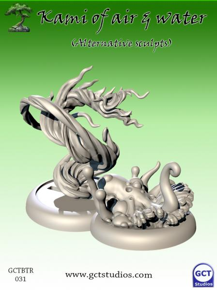 Bushido Miniatures: (Temple Of Ro-Kan) Lesser Kami's of the Morning Dew