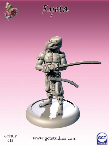 Bushido Miniatures: (Jung Pirates) Ryota, The Great White