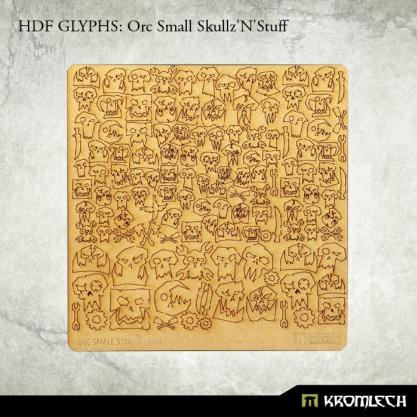 Accessories: HDF Glyphs - Orc Small Skullz'N'Stuff