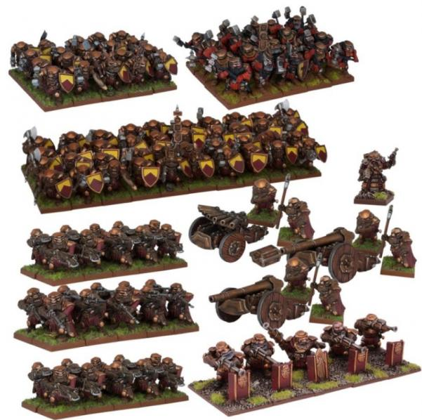 Kings Of War, 2nd Edition: (Dwarf) Dwarf Mega Army