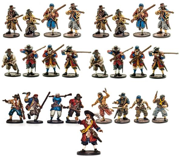 Blood & Plunder: English Nationality Miniature Starter Set (25)