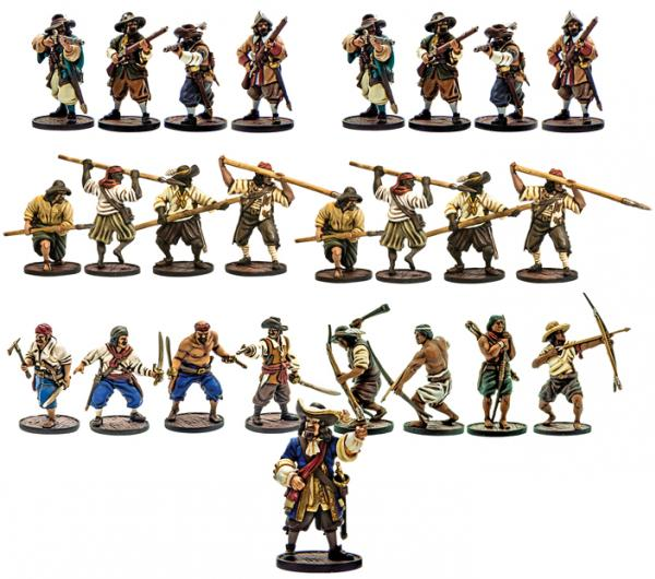 Blood & Plunder: Spanish Nationality Miniature Starter Set (25)