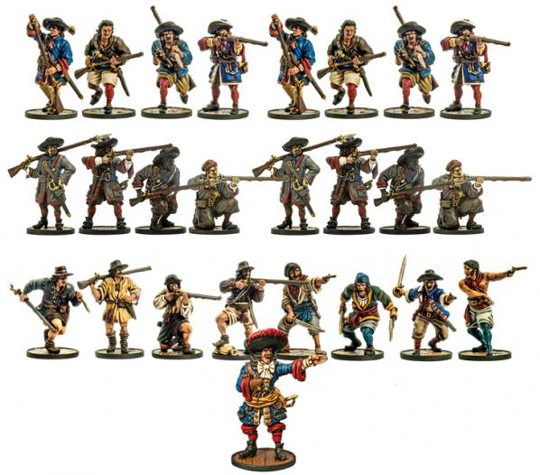 Blood & Plunder: French Nationality Miniature Starter Set (25)