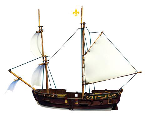 Blood & Plunder: Brigantine Ship (Resin)