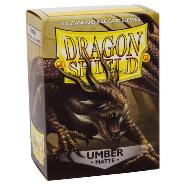 Dragon Shields: Matte Umber Sleeves (100)