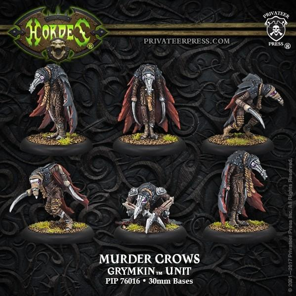 Hordes: (Grymkin) Murder Crows - Grymkin Unit (resin/metal)