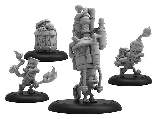 Hordes: (Grymkin) Mad Caps - Gymkin Weapon Crew (resin/metal)