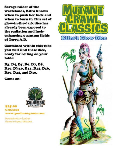 Mutant Crawl Classics: Kilra's Glow Dice Set