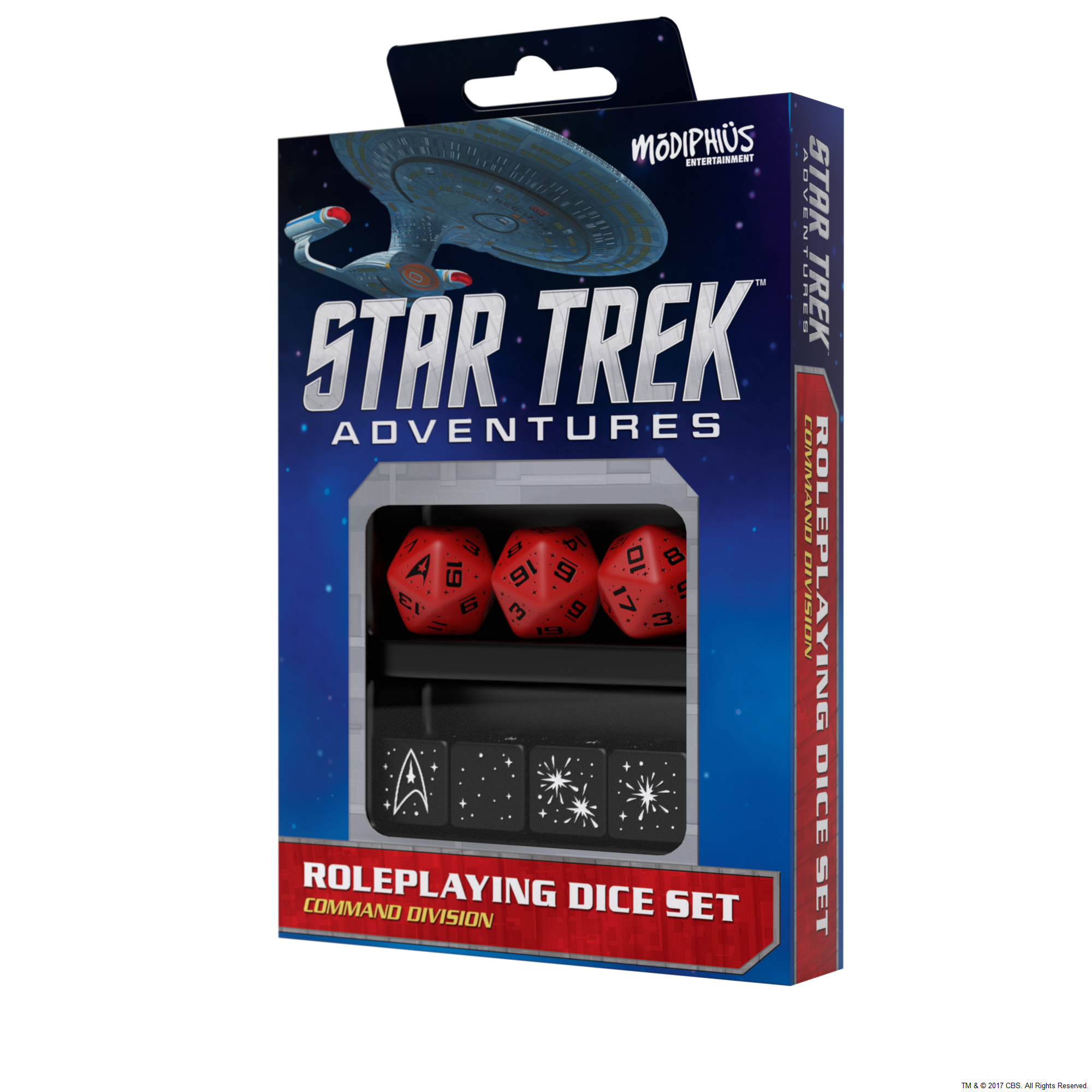 Star Trek Adventures RPG: Dice Set - Command Red