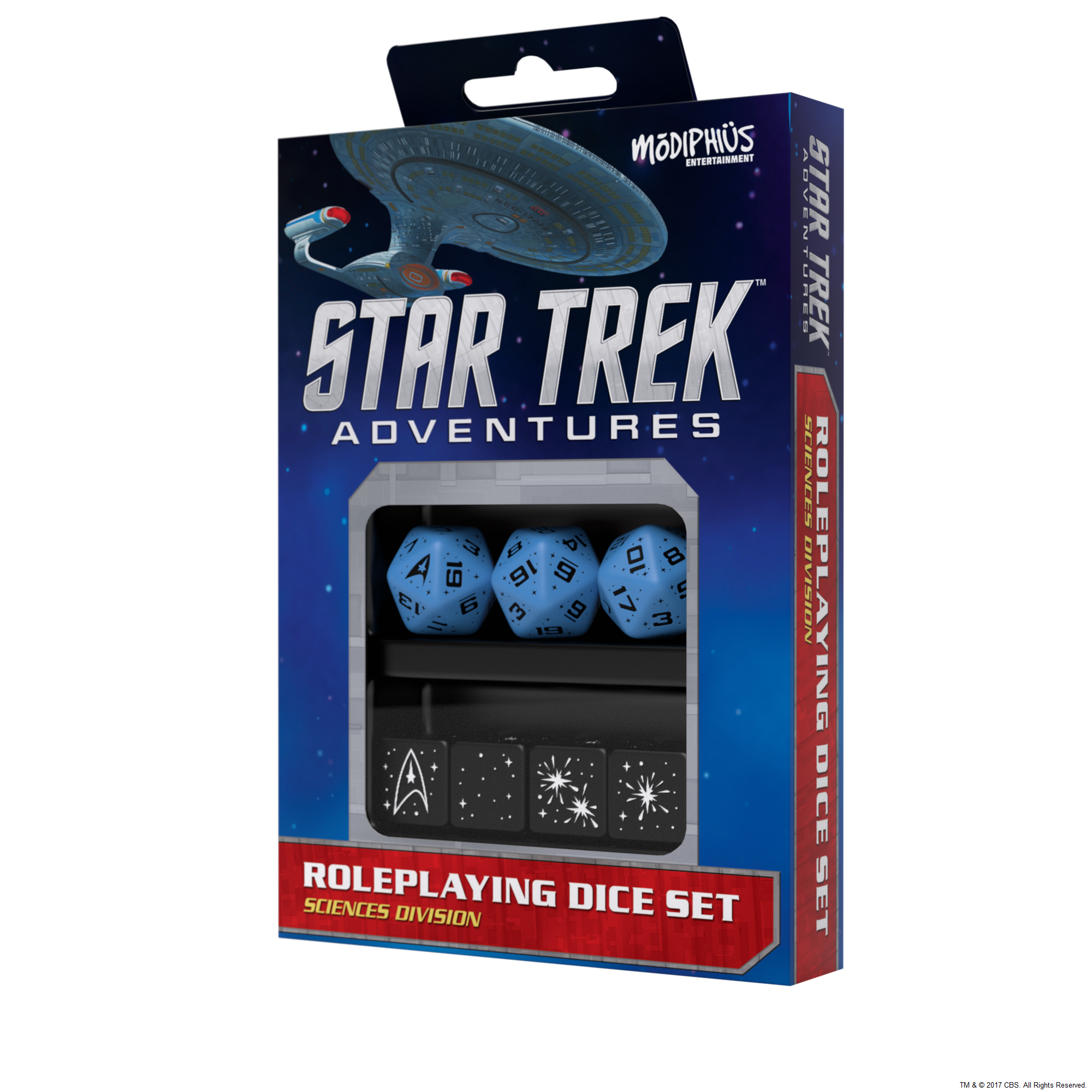 Star Trek Adventures RPG: Dice Set - Sciences Blue