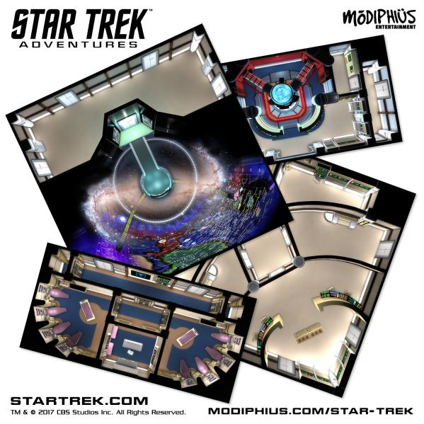 Star Trek Adventures RPG: Next Generation Starfleet Deck Tiles