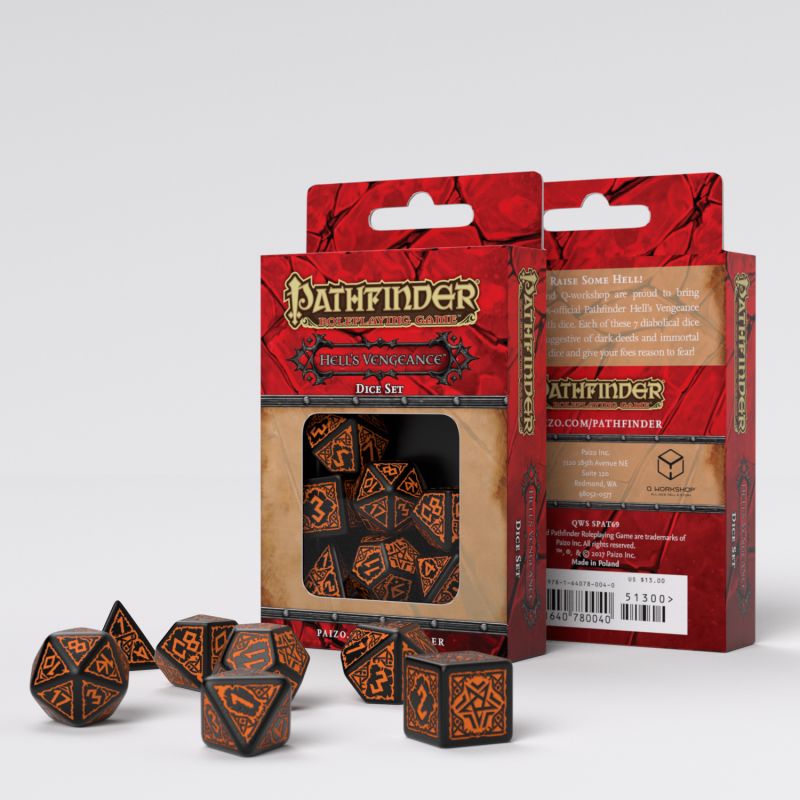 Pathfinder: Hell's Vengeance Dice Set (7)
